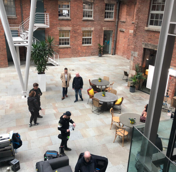 Netflix's The Stranger filming in Ancoats (Image: CERT Property)